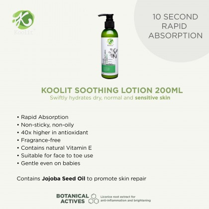 Koolit Soothing Lotion 200ml+ Koolit Gentle Body Wash 300ml