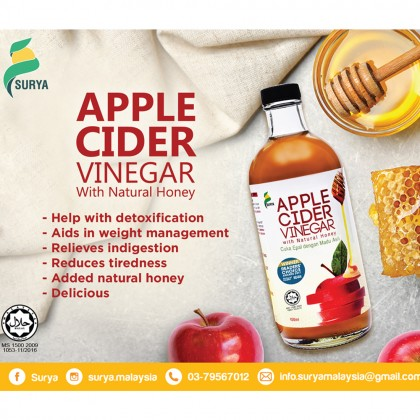 Surya Apple Cider Vinegar (750ml x 2, Exp: Nov 20)